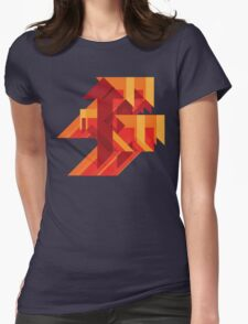 Funky Little Arrows Womens Fitted T-Shirt