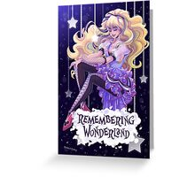 Remembering Wonderland (with logo) Greeting Card