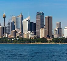 Sydney Skyline on a Summers Day by Chris  Randall