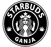 Starbuds Ganja I Love Cannabis And Coffee Photographic Print