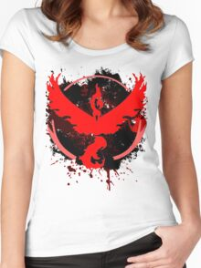 Red Team Women's Fitted Scoop T-Shirt