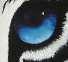 White Tigers eye Sticker
