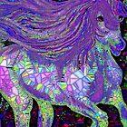 Fantsy Horse Abstract Mosaic by Saundra Myles