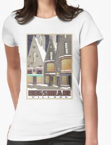 Hogsmeade Village Travel Poster Womens Fitted T-Shirt