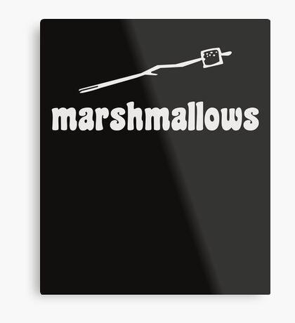 Marshmallow  Metal Print