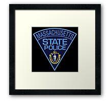 massachusetts state police Framed Print