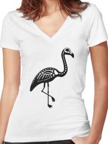 Pink Skelingo Women's Fitted V-Neck T-Shirt