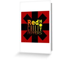 Red Hot chili peppers yellow shine Greeting Card