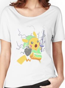 Funny Pokemon T-Shirt Adult BLUE - Male Medium - Baby Blue Women's Relaxed Fit T-Shirt