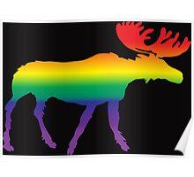 Rainbow Pride Moose Poster