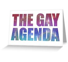 The Gay Agenda Greeting Card