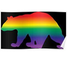 Rainbow Pride Bear Poster