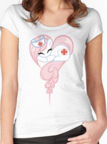 Nurse RedHeart ... Heart Women's Fitted Scoop T-Shirt