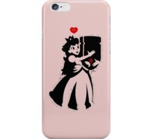 TShirt Princess and Bomb Hugger Banksy Parody iPhone Case/Skin