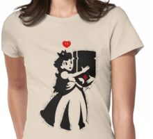 TShirt Princess and Bomb Hugger Banksy Parody Womens Fitted T-Shirt