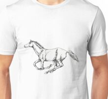 Galloping horse Unisex T-Shirt