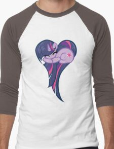 Heart Of Twilight Sparkle Men's Baseball ¾ T-Shirt