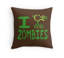 Tshirt I Plants against Zombies Throw Pillow