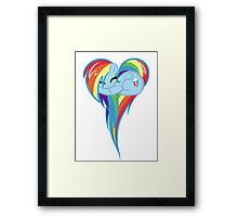 Heart Of Rainbow Dash Framed Print