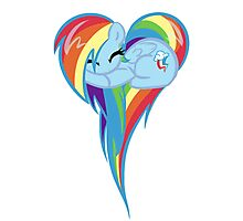 Heart Of Rainbow Dash Photographic Print