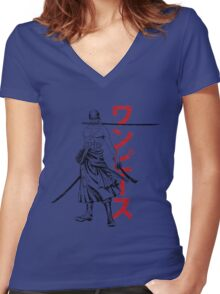 Pirate Hunter Women's Fitted V-Neck T-Shirt