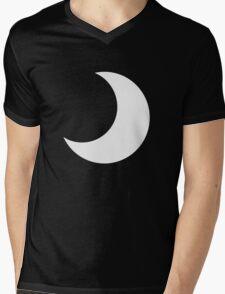 Black crescent moon  Mens V-Neck T-Shirt