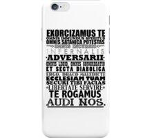 Exorcism Chant iPhone Case/Skin