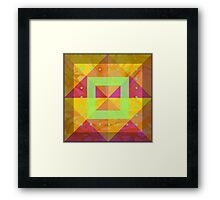 Geometric Shapes with Lime Accents Framed Print