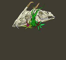 Muntjac Deer Skull Pair Design in Color Unisex T-Shirt