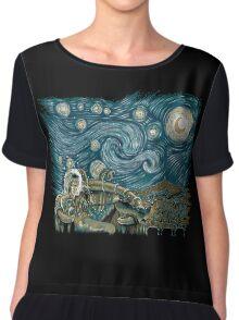 Starry Labyrinth Chiffon Top