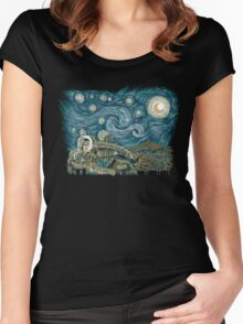 Starry Labyrinth Women's Fitted Scoop T-Shirt