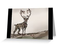 the Braindeer Stands Alone Greeting Card