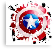 Captain America Splat Canvas Print