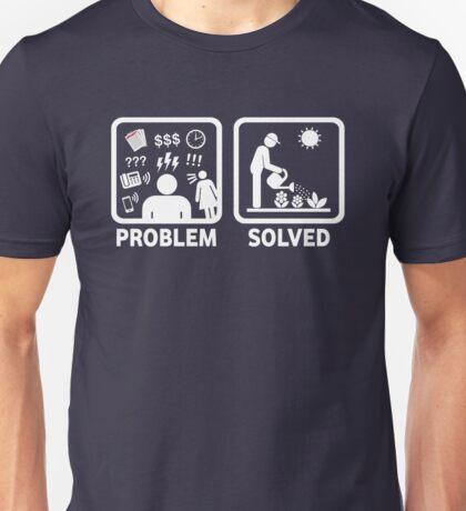 Gardening Funny Problem Solved Stickman Shirt Unisex T-Shirt