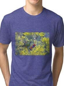 Red Headed Parrot Tri-blend T-Shirt