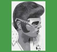 Elvis black&white One Piece - Short Sleeve