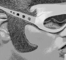 Elvis black&white Sticker