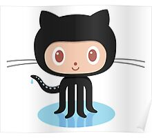 Github Social Coding Stickers Poster