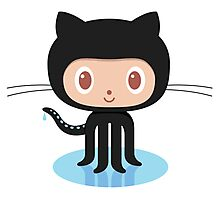 Github Social Coding Stickers Photographic Print