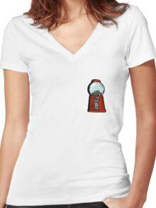 bubble gum machine Women's Fitted V-Neck T-Shirt