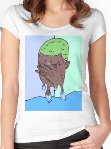 BLONDE FRANK OCEAN Women's Fitted Scoop T-Shirt