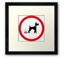 I LOVE MY DOGS_27 Framed Print