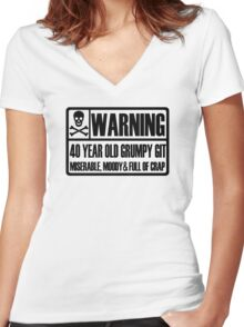 40 year old Women's Fitted V-Neck T-Shirt