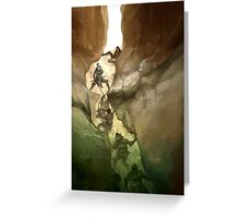 Chasm Fighters Greeting Card