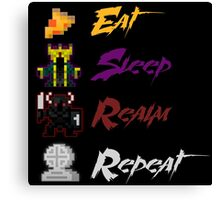 Eat, Sleep, Realm, Repeat Canvas Print