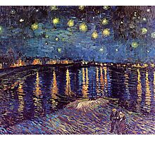 Starry Night Over The Rhone Photographic Print