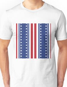 Patriotic Vertical Stars and Stripes Pattern Unisex T-Shirt