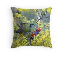 Red Parrot Throw Pillow