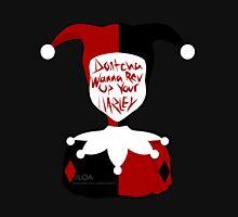 Harley Quinn (black bg) Unisex T-Shirt