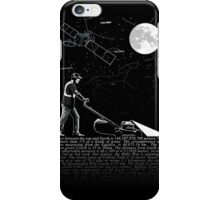 Lawnmowing By Night iPhone Case/Skin